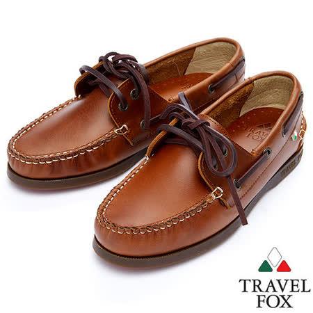 Travel Fox STYLE-經典帆船鞋914827(駱駝-48)