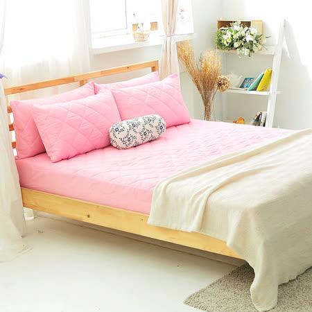 美夢元素 繽紛馬卡龍保潔床墊-雙人加大〈櫻花粉〉