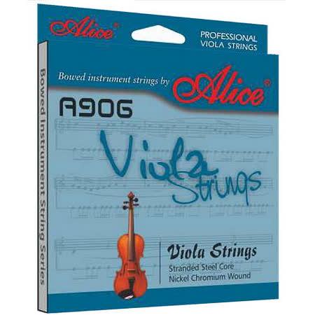 【美佳音樂】Alice A906 進口鋼絲繩弦芯/鎳鉻纏弦/鍍鎳珠頭 中提琴套弦