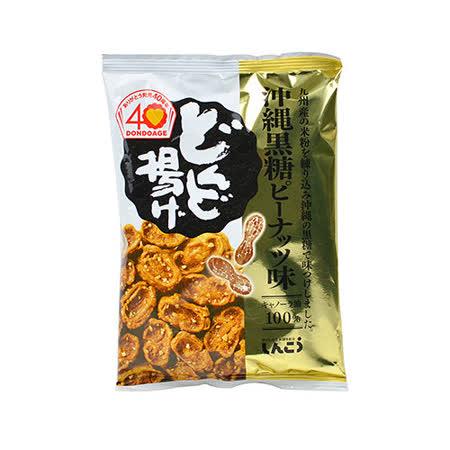 日本SHINKO沖繩黑糖花生口味仙貝80G