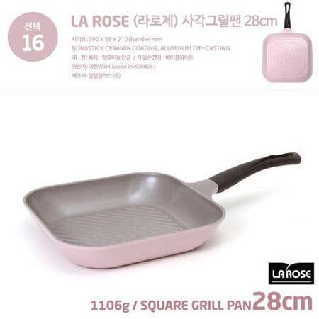 【韓國Chef Topf】玫瑰鍋LA ROSE系列28公分四方型平底鍋GP-28