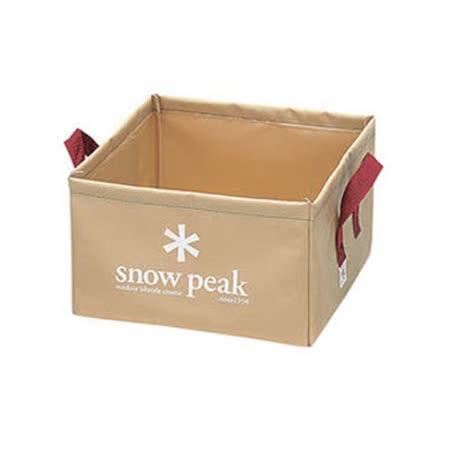 【日本 Snow Peak】 月光軟式方型水桶-14L (Pack Bucket)置物袋 /FP-151