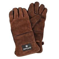 【日本 Snow Peak】高級耐熱皮手套(Fire side gloves(Renuwal)) 焚火台 /UG-023BR