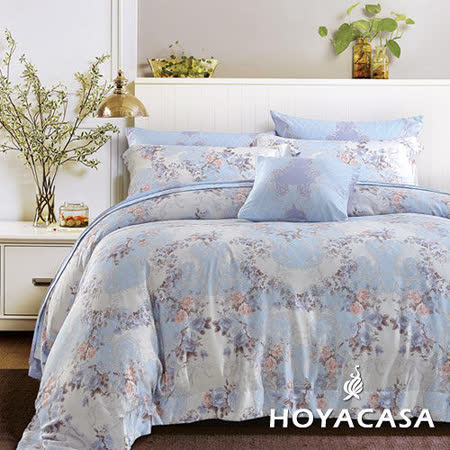 《HOYACASA 加州花園》加大四件式天絲兩用被床包組