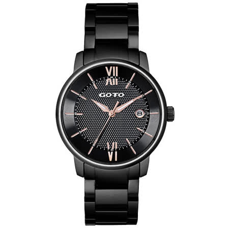 GOTO   星之碎片時尚男腕錶-黑