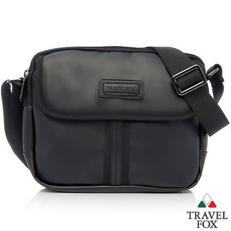 Travel Fox 旅狐細紋防護側背包(平板可入)黑色TB620-01