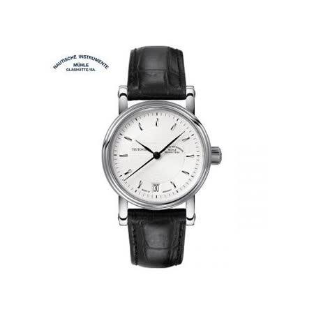 格拉蘇蒂·莫勒 Muehle·Glashuette 經典系列-日耳曼時計 M1-30-25-LB 機械中性錶