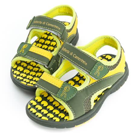 Roberta諾貝達 超輕量舒適雙黏扣帶運動休閒涼鞋 613716-綠