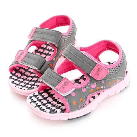 Roberta諾貝達 超輕量舒適雙黏扣帶運動休閒涼鞋 613717-桃