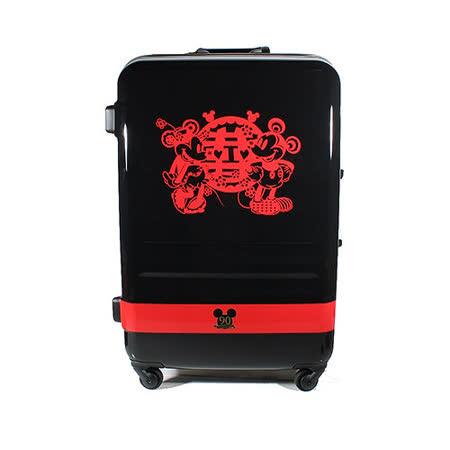 90週年紀念款【CROWN皇冠】27吋 Disney 米奇 4.9kg輕量高級蜜月旅行箱 C-FA029 行李箱 米老鼠