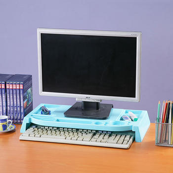 《Homelike》樂活桌上螢幕收納架(兩色任選)