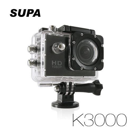速霸 K3000 Full HD 1080P 極限全視線行車紀錄器運動防水型 行車記錄器(送8G TF卡)