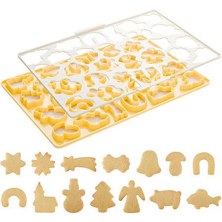 《TESCOMA》28格快速餅乾壓模板(聖誕節)