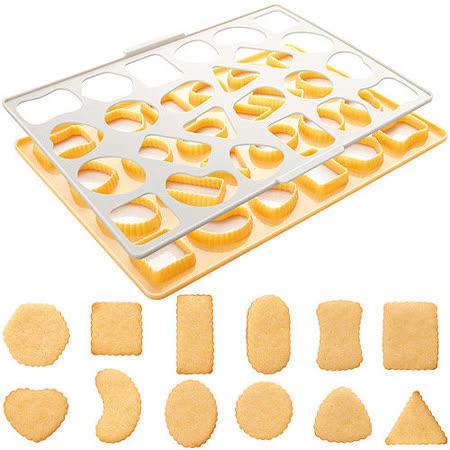 《TESCOMA》24格快速餅乾壓模板(菊花幾何)