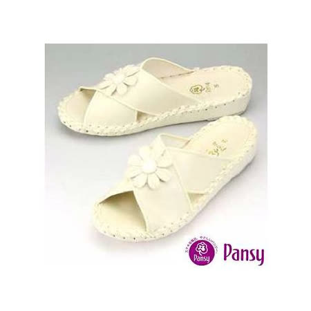 【Pansy】日本品牌 厚底 室內女士拖鞋-9370-白色