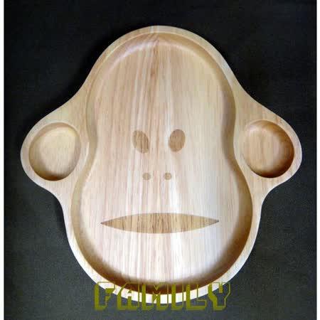 日式居家 自然木 木質餐具 - 猴子餐盤