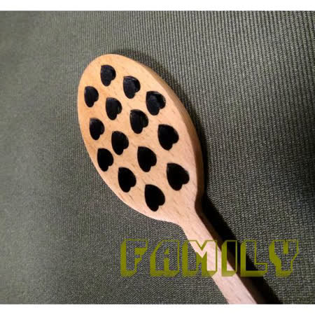 日式居家 天然木 木質餐具 - 蜂蜜愛心攪拌匙