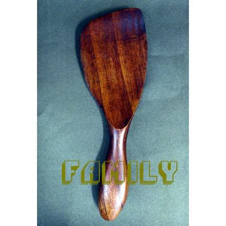 日式居家 天然木 木質餐具 - 斜柄飯匙 - 深色