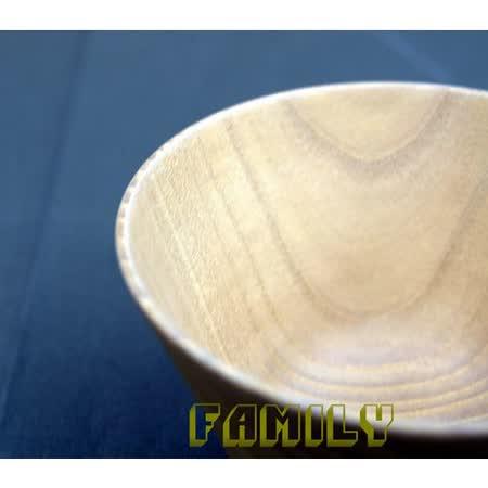 日式居家 天然木 木質餐具 - 簡約木碗 - 白