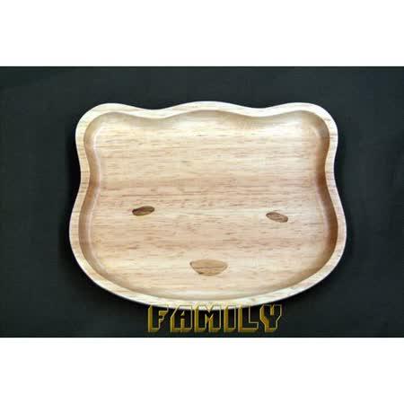 日式居家 天然木 木質餐具 - 休閒小熊餐盤