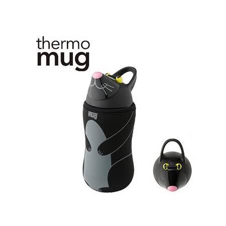 日本品牌 thermo mug 兒童/子供用動物水壺 - 黑貓.