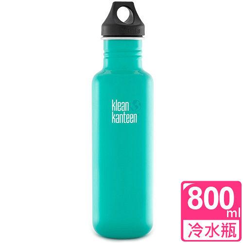 ^( ^) 美國Klean Kanteen 不鏽鋼冷水瓶800ml_潮汐藍