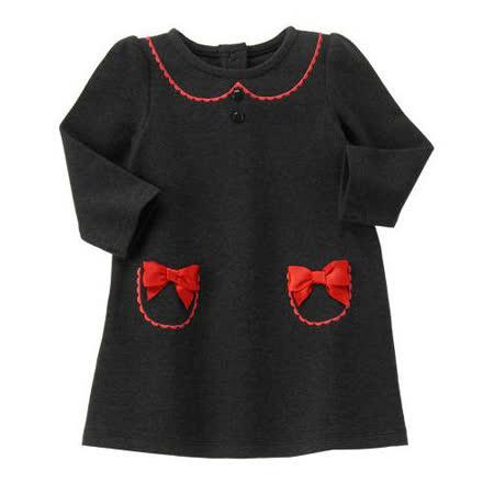 Gymboree 美國童裝 洋裝 紅色蝴蝶結 黑色 12-18M 18-24M
