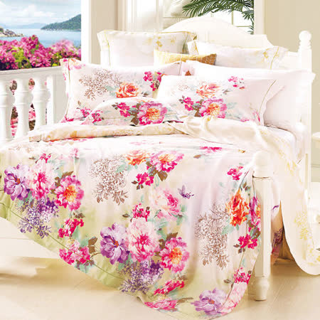 Lily Royal 雅緻清秀 天絲 雙人四件式兩用被床包組