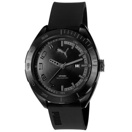 PUMA  時間炸裂大錶徑休閒腕錶-灰黑
