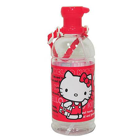 【HELLO KITTY】凱蒂貓寶特瓶水壺600ml(吸管式)