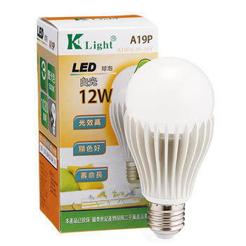光然K-LIGHT 12W LED燈泡-白光