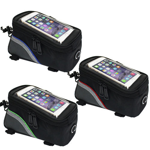 自行車用手機大容量上管收納包(贈3.5mm耳機延長線)