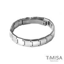 【TiMISA】純粹品味 純鈦鍺手鍊-18公分