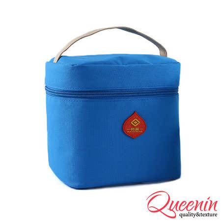 DF Queenin日韓 - 野餐生活新樂趣輕便式保冷保溫袋-天空藍