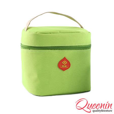 DF Queenin日韓 - 野餐生活新樂趣輕便式保冷保溫袋-蘋果綠