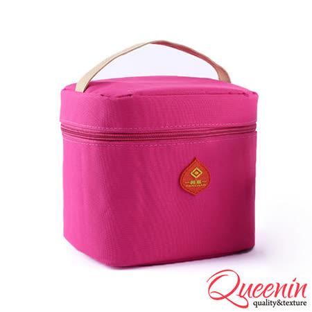 DF Queenin日韓 - 野餐生活新樂趣輕便式保冷保溫袋-桃紅