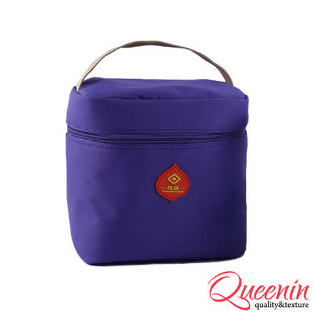 DF Queenin日韓 - 野餐生活新樂趣輕便式保冷保溫袋-紫色