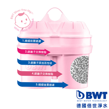 【BWT德國倍世】Sliver-free Mg2+鎂離子除銀四週長效濾芯(三入組)