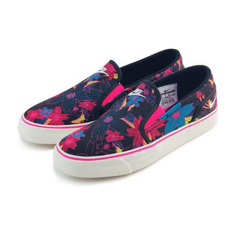 (女)NIKE WMNS TOKI SLIP PRINT 休閒鞋 黑/花卉-724769016