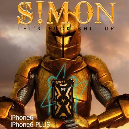 韓國空運4thdesign Simon靈魂戰士iPhone6鋁合金抗摔保護殼(4.7吋)