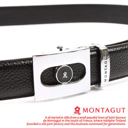 MONTAGUT夢特嬌-頭層牛皮 精品 自動扣皮帶M7801F