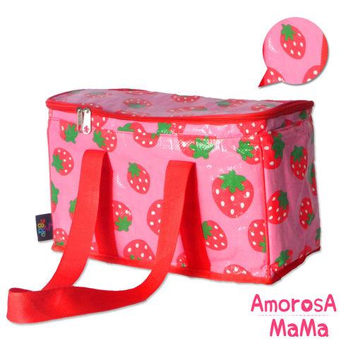 【Amorosa Mama】多用手提式保冷保溫袋/野餐包/保鮮袋 (草莓)