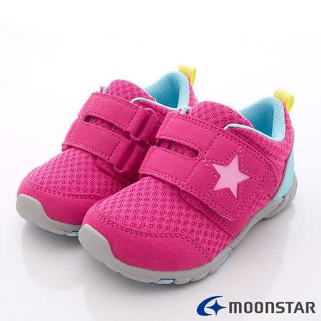 日本Carrot機能童鞋-星星輕量機能款-CRC21334桃(15cm-21cm)