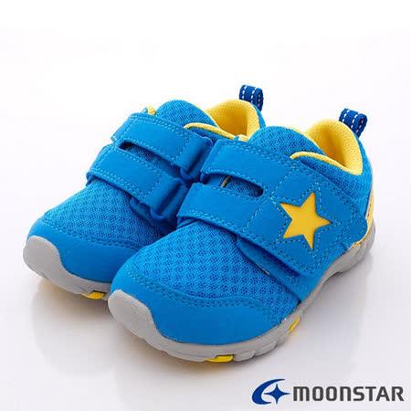 日本Carrot機能童鞋-星星輕量機能款-CRC21335藍(15cm-21cm)