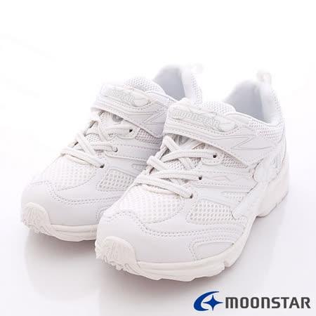 日本月星頂級競速童鞋-純白競速鞋款-SSJ6441白(19cm-24.5cm)