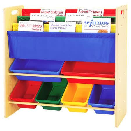 《寶貝家》兒童書報玩具收納架(2大桶 4中桶)