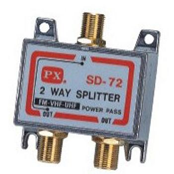 PX大通GSD-72鍍金二路分配器