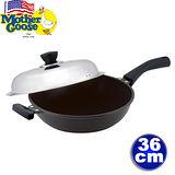 《美國鵝媽媽》晶鑽裝甲科技炒鍋單柄36cm