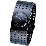 ck grid個性品味休閒手環錶(PVD黑)-大