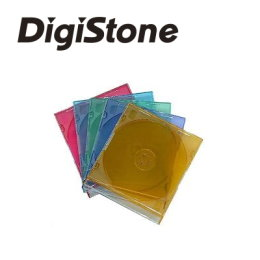 DigiStone單片超薄CD/DVD硬殼收納盒/五彩 25PCS